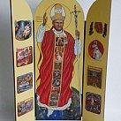 Obraz Tryptyk święty Jan Paweł II Pielgrzym świata