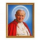 Obrazek w ramce świety Jan Paweł II kanonizacyjny