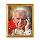 Obrazek w ramce święty Jan Paweł II kremówki