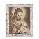 Obrazek w ramce z Jezusem Dobrym Pasterzem 20 x 25