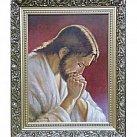 Obraz Jezus modlący się w ozdobnej ramie