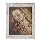 Obraz Jezus wg brata Elia biała przecierana rama