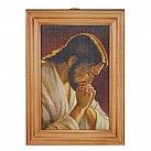 Obrazek w drewnianej ramce Jezus modlący się 10 x 15