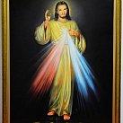 Obraz Jezusa Miłosiernego na płótnie 100 x 70 cm