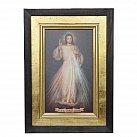 Obraz Jezus Miłosierny płótno w ramie 36 x 25 cm