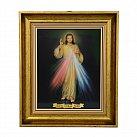 Obraz Jezus Miłosierny w ozdobnej ramie