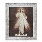 Obraz Jezu Ufam Tobie biała przecierana rama