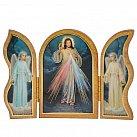 Obrazek Jezus Miłosierny z Aniołami Tryptyk