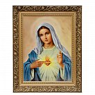 Obraz Serce Maryi 30x40 cm ozdobna rama