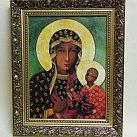 Obraz Matka Boska Częstochowska w ozdobnej ramie