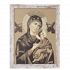 Obraz Matka Boska Nieustającej Pomocy duży biała przecierana rama