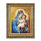Obraz Matka Boża Szkaplerzna w ozdobnej ramie