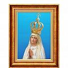 Obraz Matka Boża Fatimska ozdobna rama