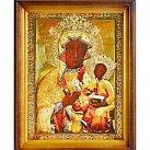 Obrazek w ramce Matka Boża Częstochowska Bursztynowa