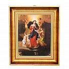 Obraz Matka Boska Rozwiązująca Wezły w ozdobnej ramie