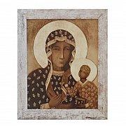 Obraz Matka Boska Częstochowska przecierana rama