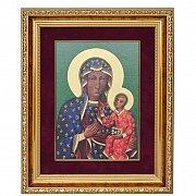 Ikona Matka Boża Częstochowska w ozdobnej ramie