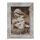 Obraz Matka Boska Karmiąca mały przecierana rama