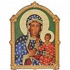 Obrazek Matka Boża Częstochowska na sklejce