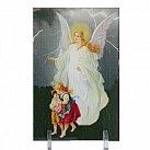 Obrazek Anioł stróż z dziećmi na plexi