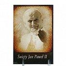 Obrazek święty Jan Paweł II w sepii na plexi