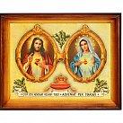 Obraz Serce Jezusa Serce Matki 30x40 cm