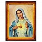 Obrazek w ramce Serce Maryi zwykła rama 30x40 cm