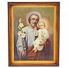 Obraz Święty Józef w drewnianej ramie