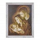 Obraz święta Rodzina biała przecierana rama duża wzór 2