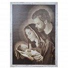 Obraz Święta Rodzina biała przecierana rama, XL wzór 2