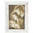 Obraz Święta Rodzina mały biała przecierana rama, wzór 2