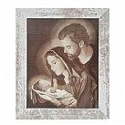 Obraz Święta Rodzina biała przecierana rama, wzór 2