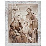 Obraz Święta Rodzina duży biała przecierana rama