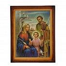 Obraz święta Rodzina w drewnianej ramie