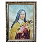 Obraz św. Teresa w ozdobnej ramie 50x70