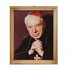 Obrazek w ramce kardynał Wyszyński drewno 20x25
