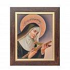 Obraz św. Rita w ramie z paskiem