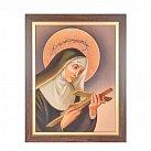 Obraz św. Rita w ramie z paskiem duży