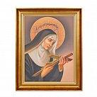 Obraz św. Rita w złotej ramie