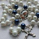 Różaniec z Matka Boską Fatimską Biały