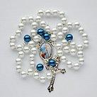 Różaniec z Matka Boską z Lourdes Biały
