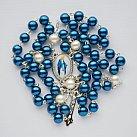 Różaniec z Matką Boską Niepokalaną niebieski