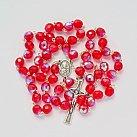 Różaniec kryształ 7mm czerwony opalenizowany