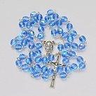 Różaniec kryształ 7mm niebieski opalenizowany