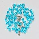 Różaniec kryształ 7mm błękitny opalenizowany