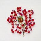 Różaniec kryształkowy z Matką Bożą Częstochowską