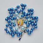 Różaniec z Matką Bożą z Lourdes niebieski