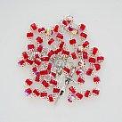 Różaniec kryształkowy czerwony okuwany