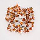 Różaniec kryształkowy romby pomarańczowy mix