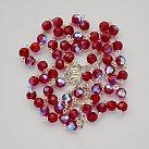 Różaniec kryształ ze srebrem czerwony